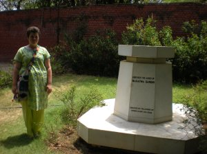 Me and Gandhi's ashes