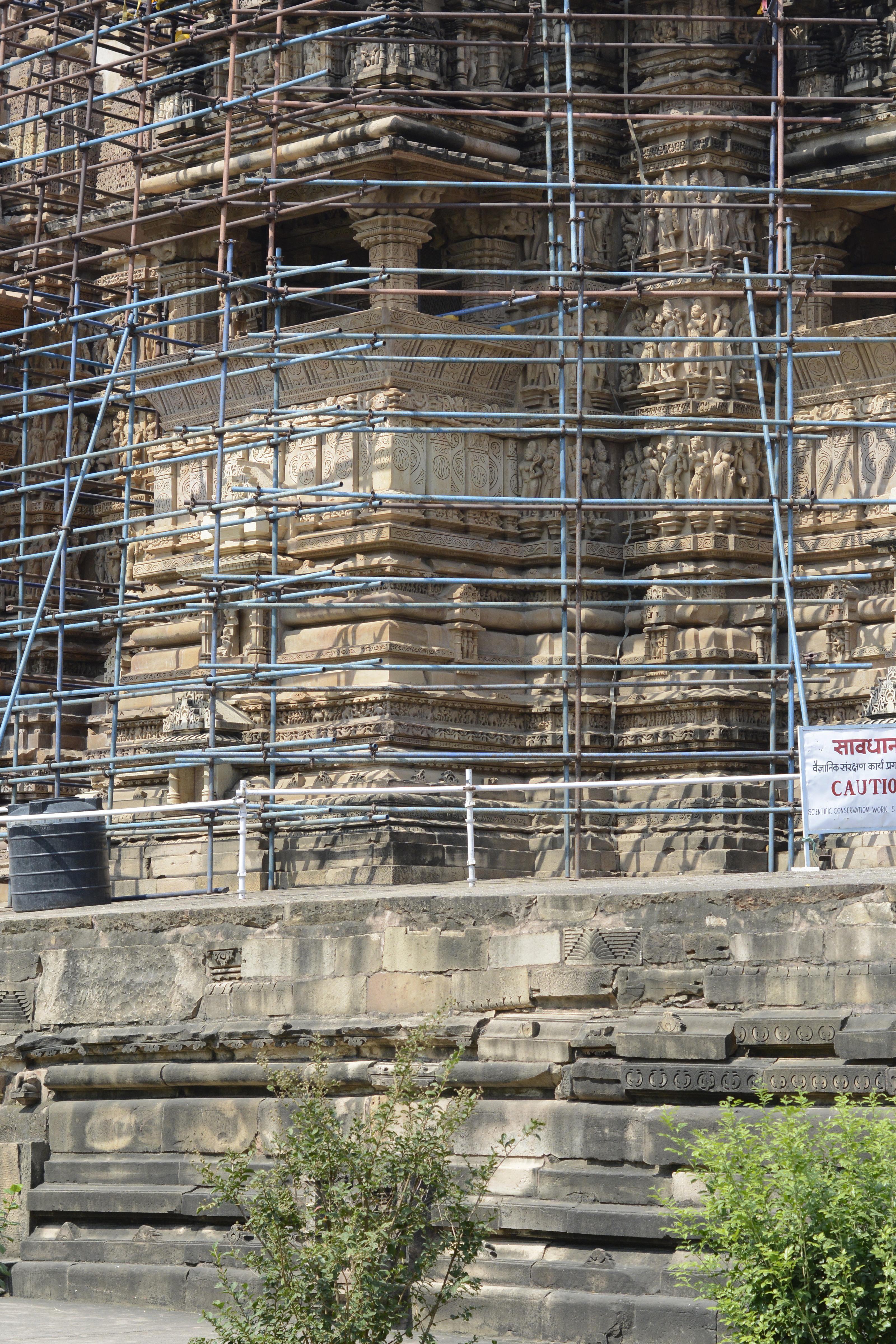 scaffolding_khajuraho